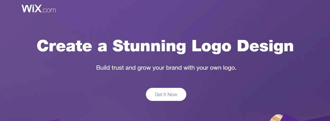 Wix logo maker homepage