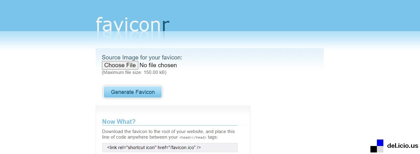 You can make a favicon icon with Faviconr's free favicon generator.
