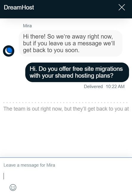 dreamhost live chat