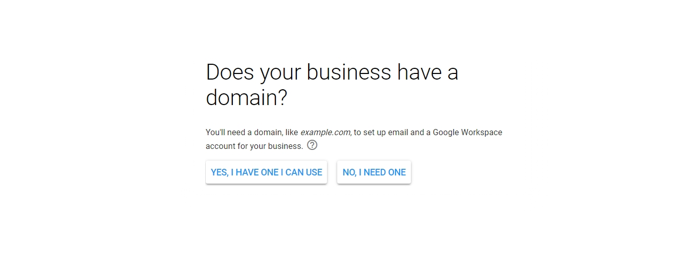 g suite do you have a domain