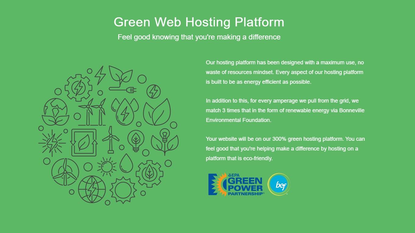 GreenGeeks environmental friendly hosting