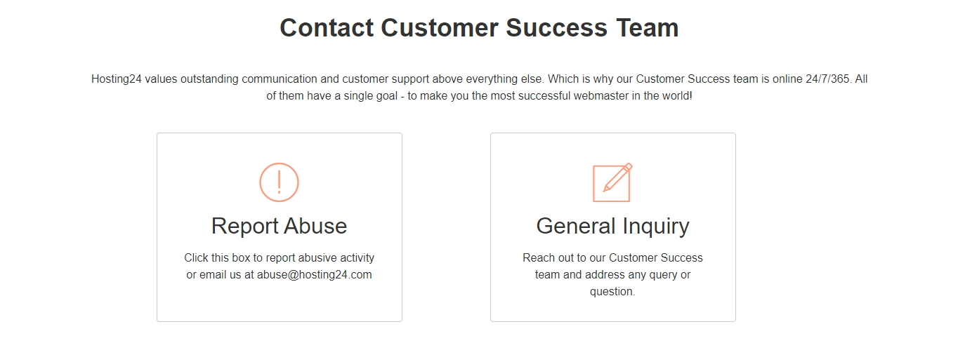 hosting24 contact support options
