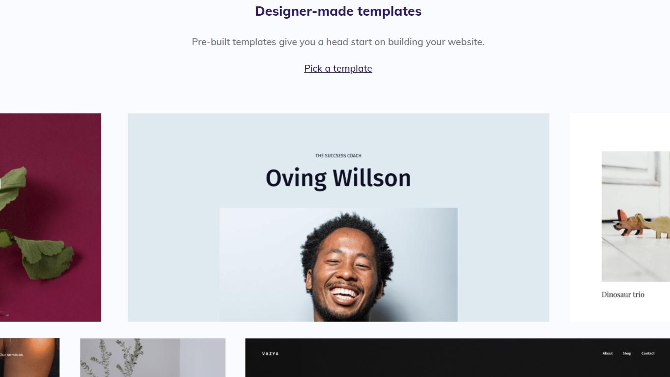 Hostinger website templates