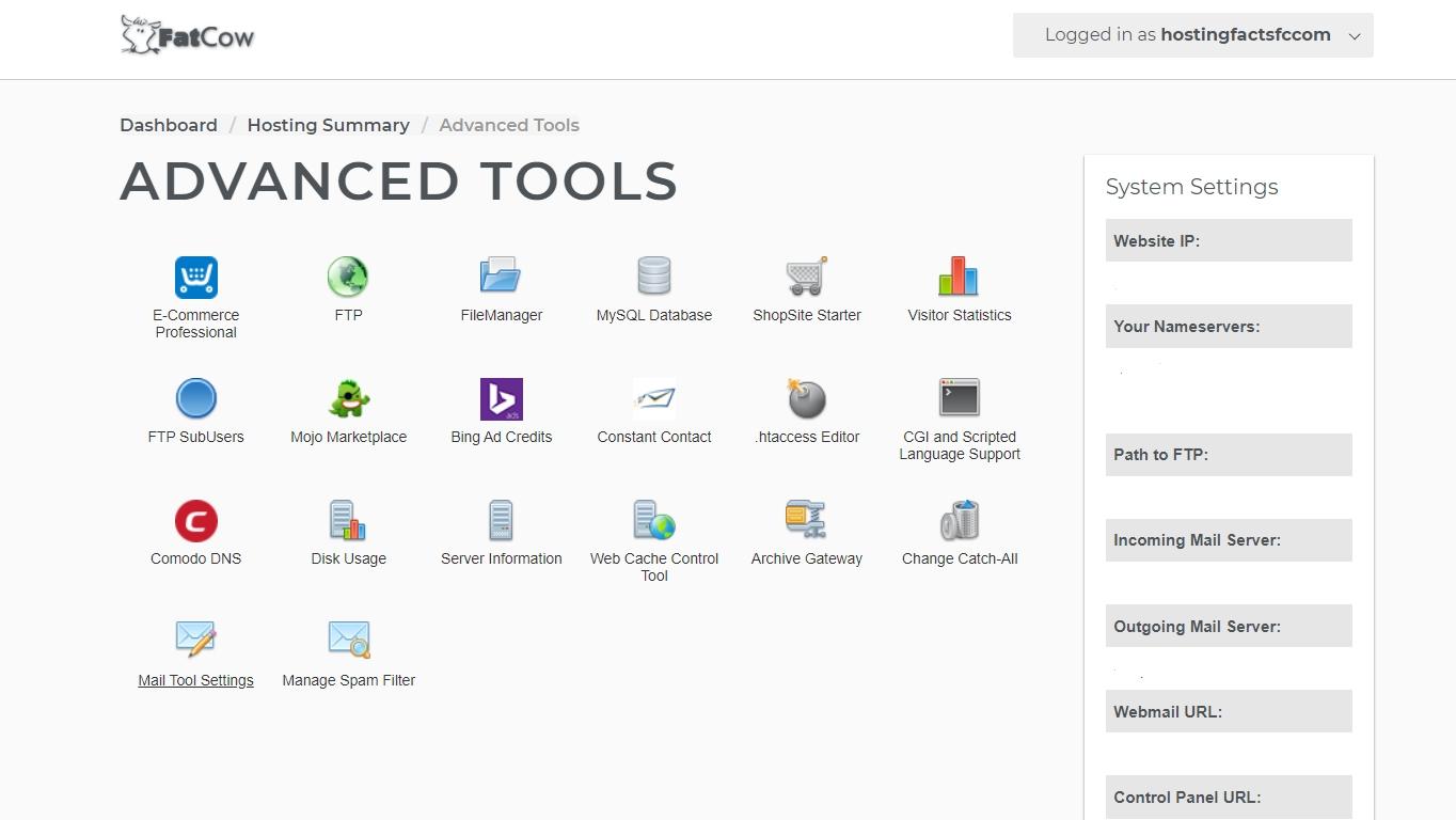WebHostingBuzz advanced tools