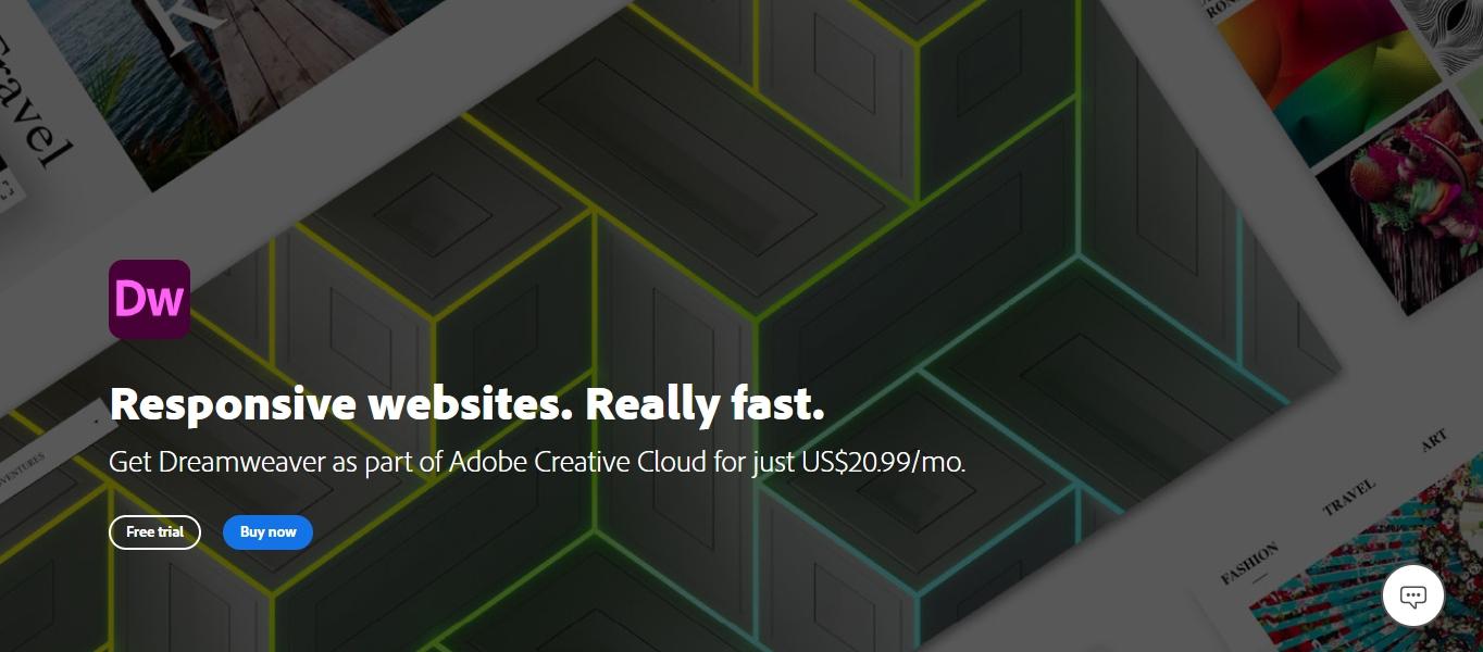 Adobe Dreamweaver web design software