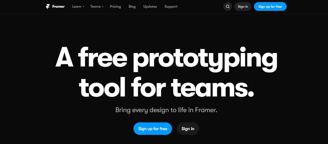Framer X interface design software