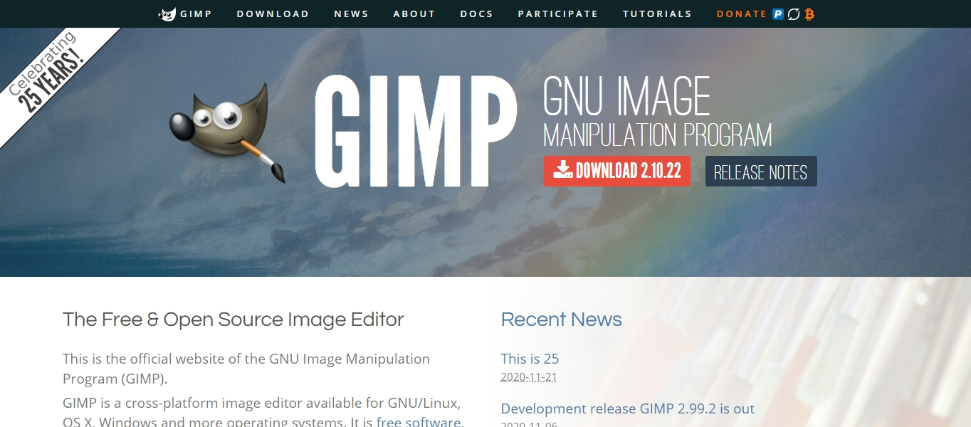 GIMP graphic design software