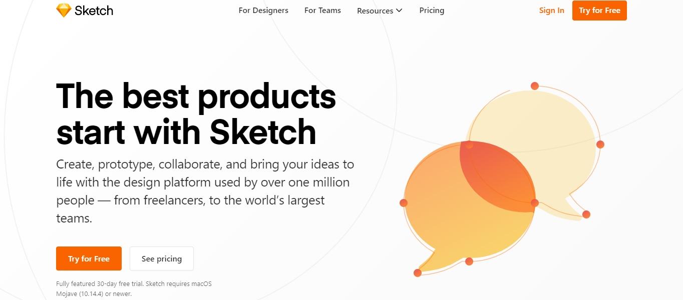 Sketch3 interface design software
