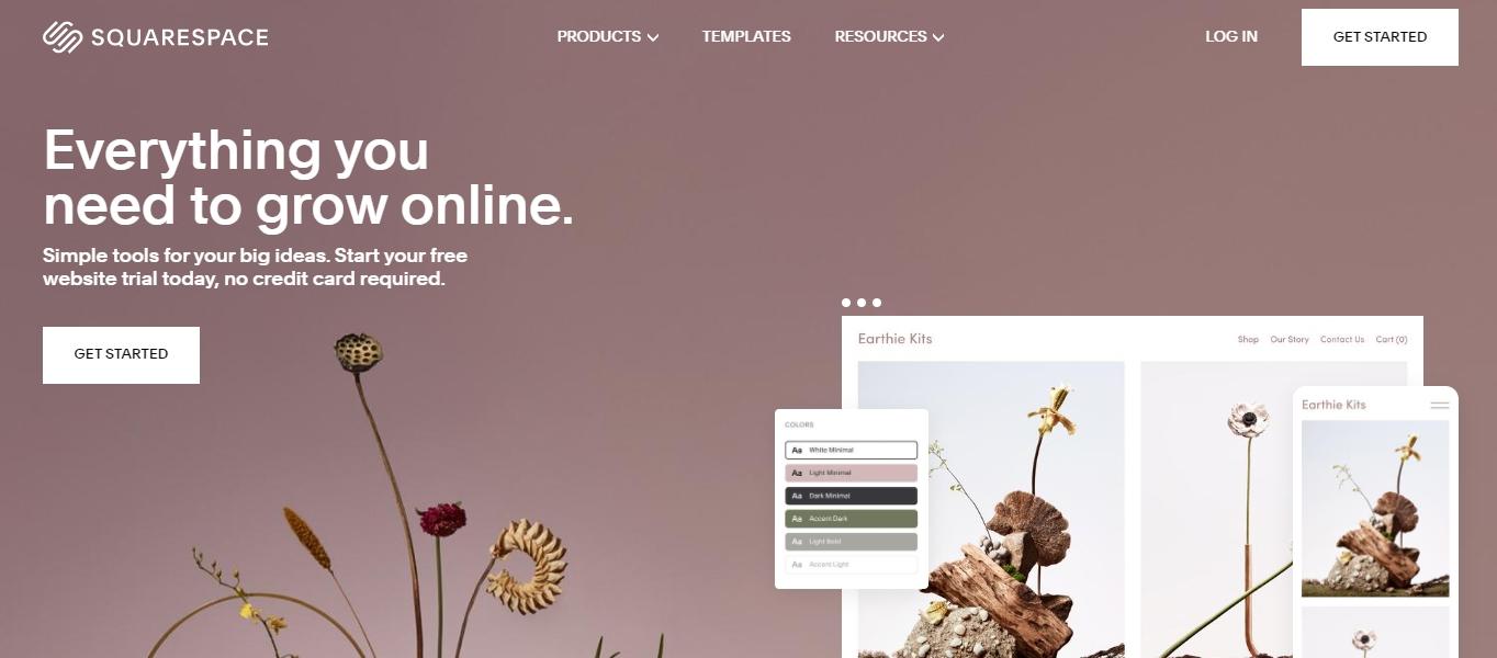 Squarespace web design software