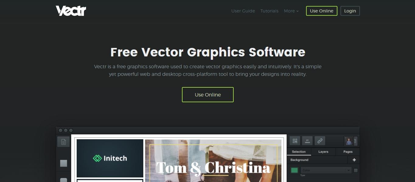 Vectr graphic design software