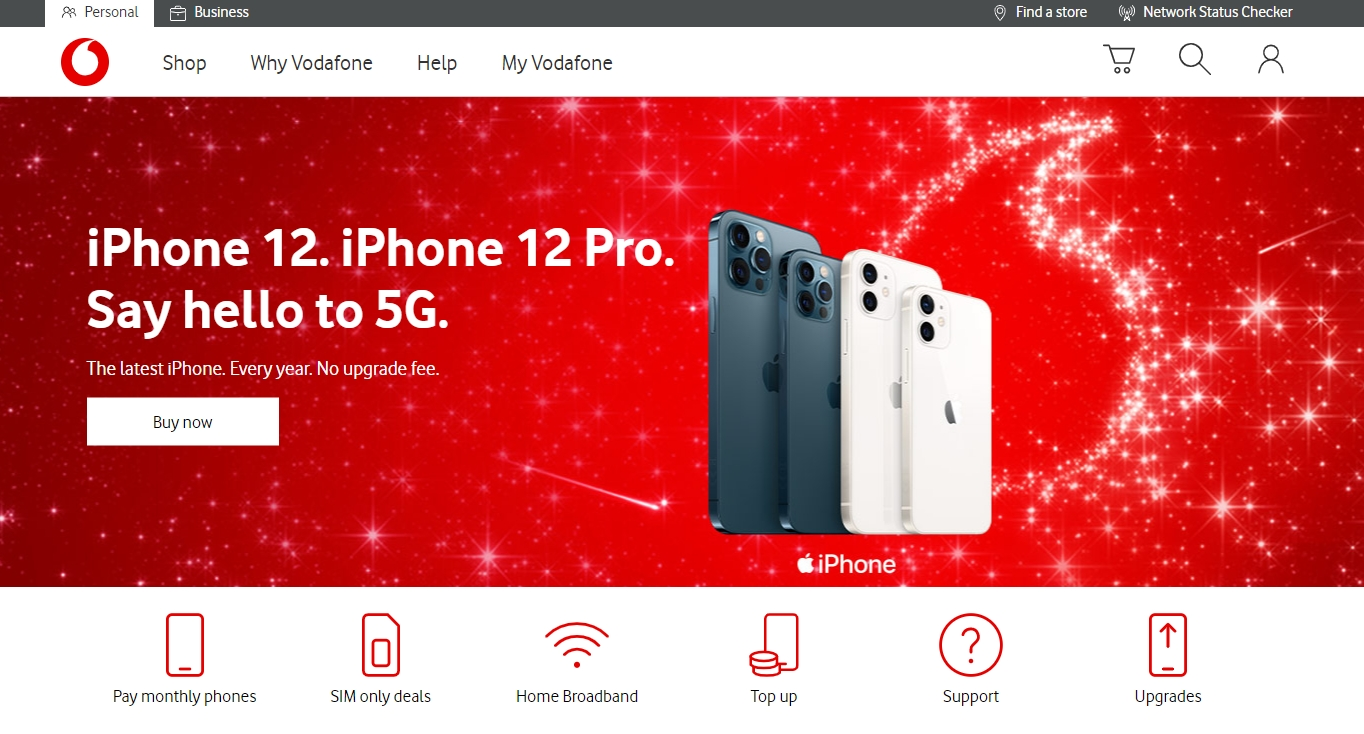 Vodafone red theme