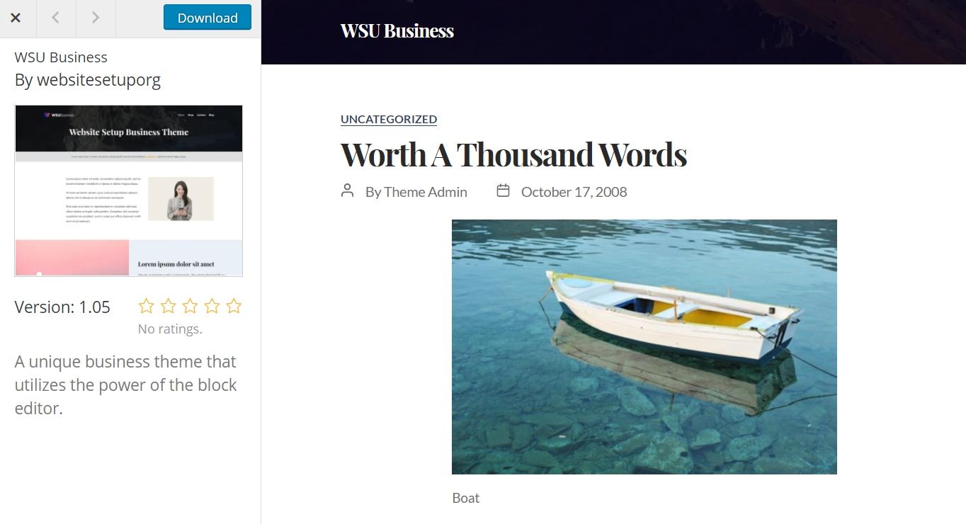 WSU business theme example