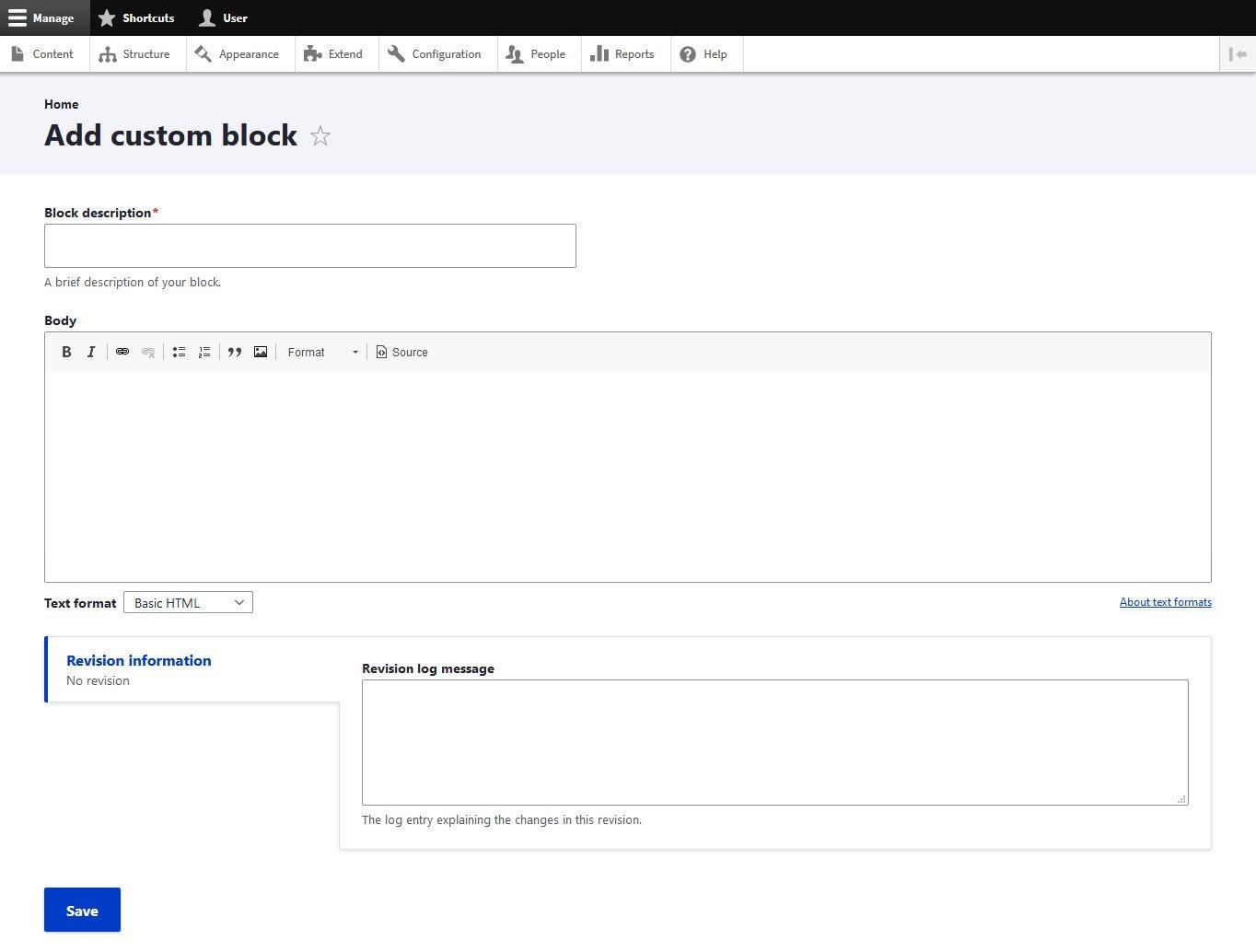 add custom block in drupal