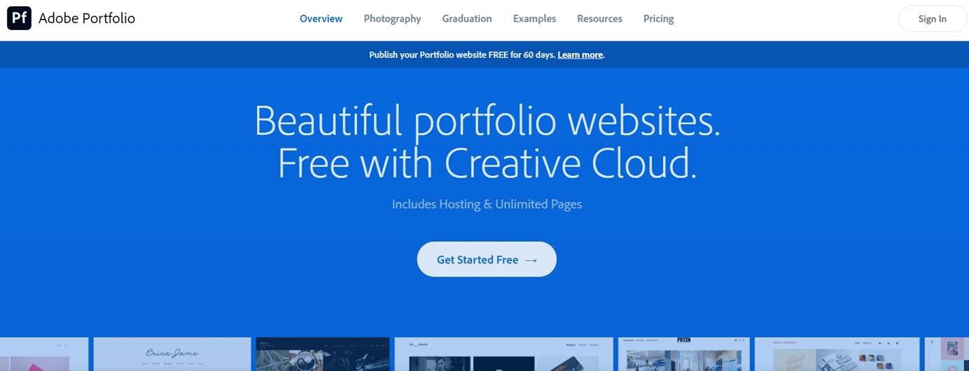 adobe portfolio builder review