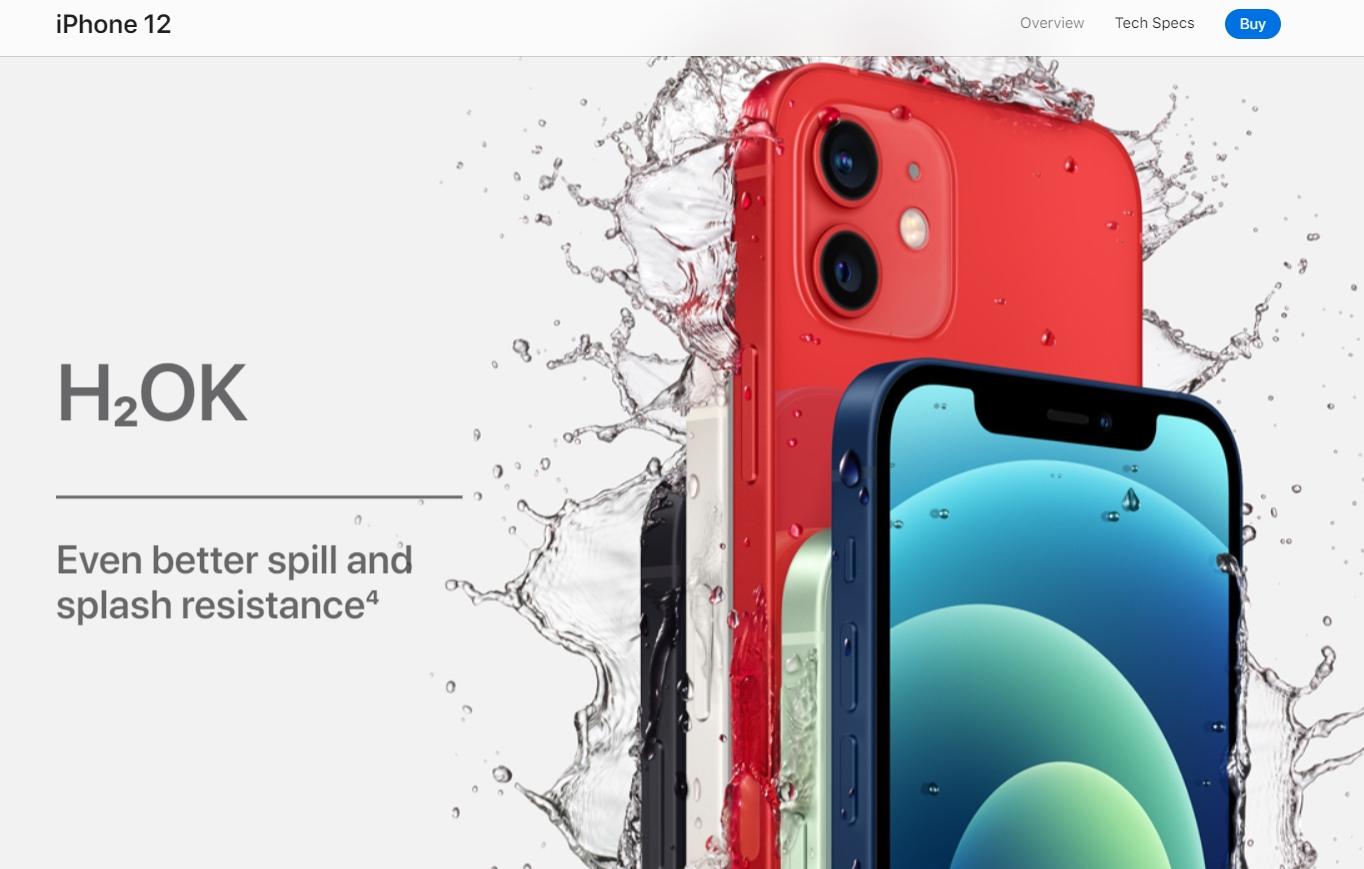 Apple make good use of the classic hero image.