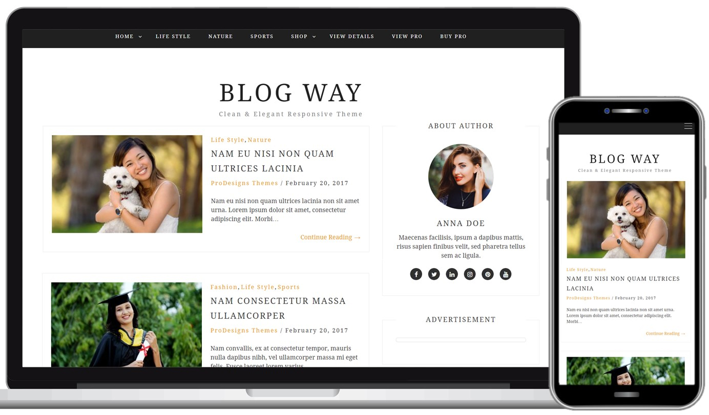 Blog Way Free WordPress Theme