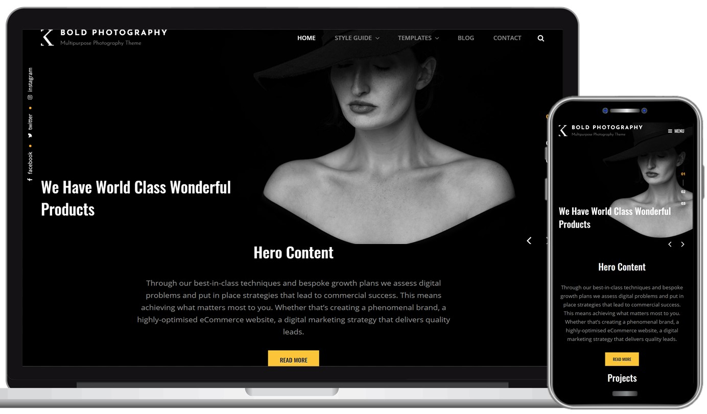 Bold Photography Free WordPress Theme