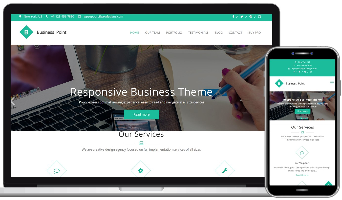 Business Point Free WordPress Theme