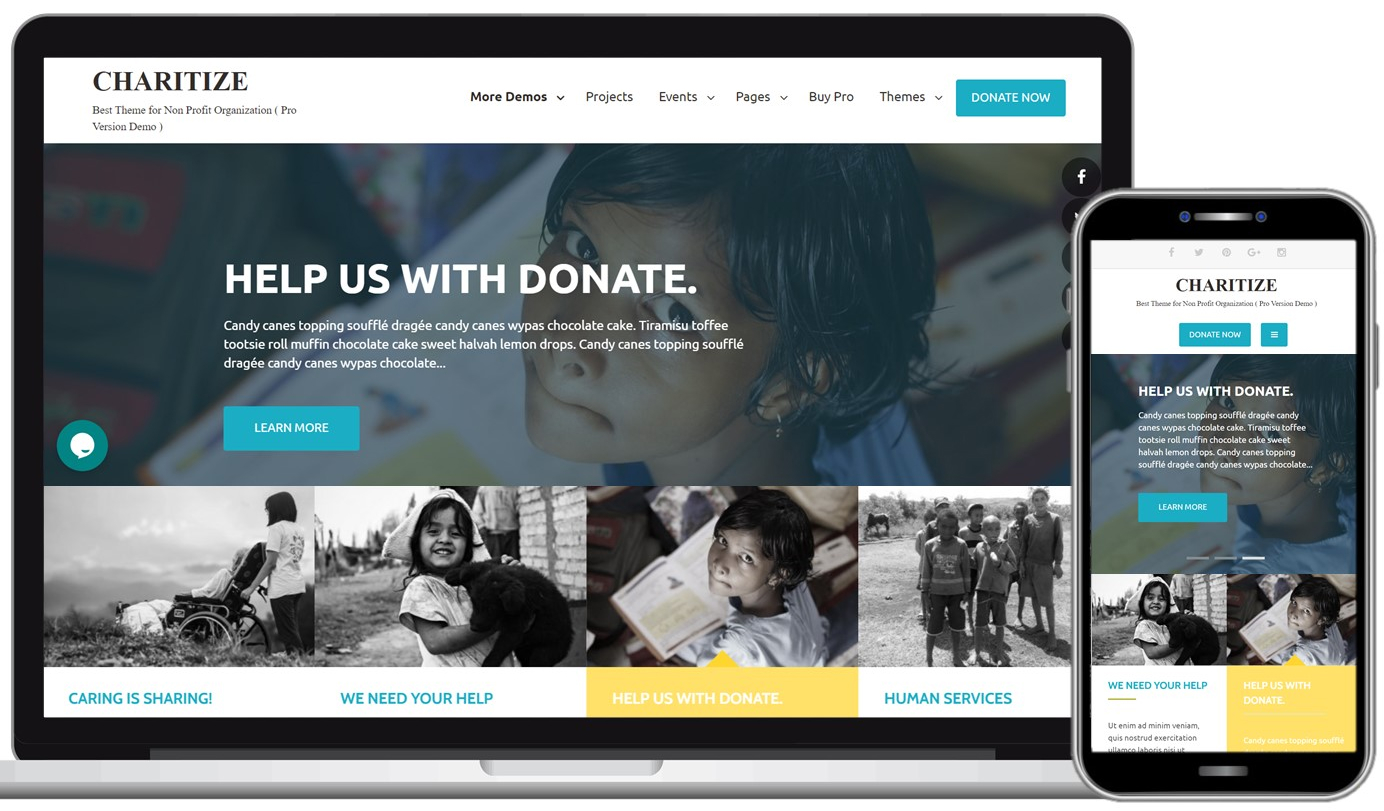 Charitize Free WordPress Theme