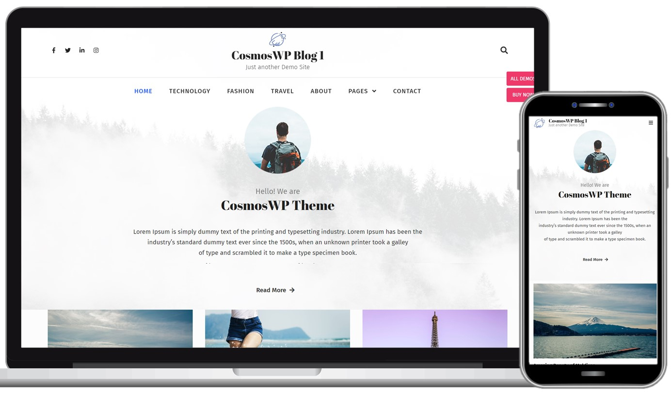 CosmosWP Free WordPress Theme