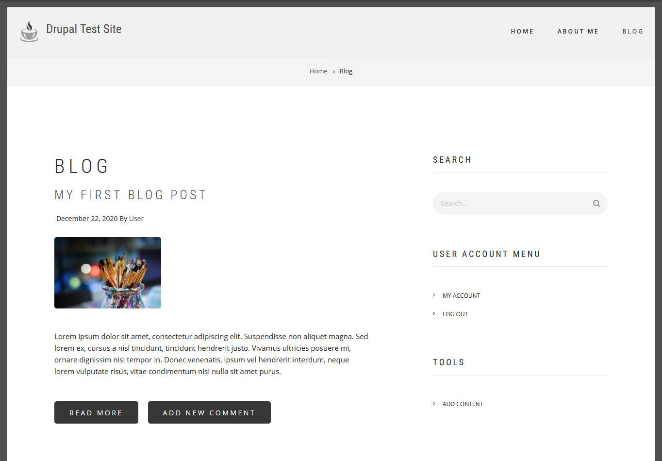 create a blog in drupal