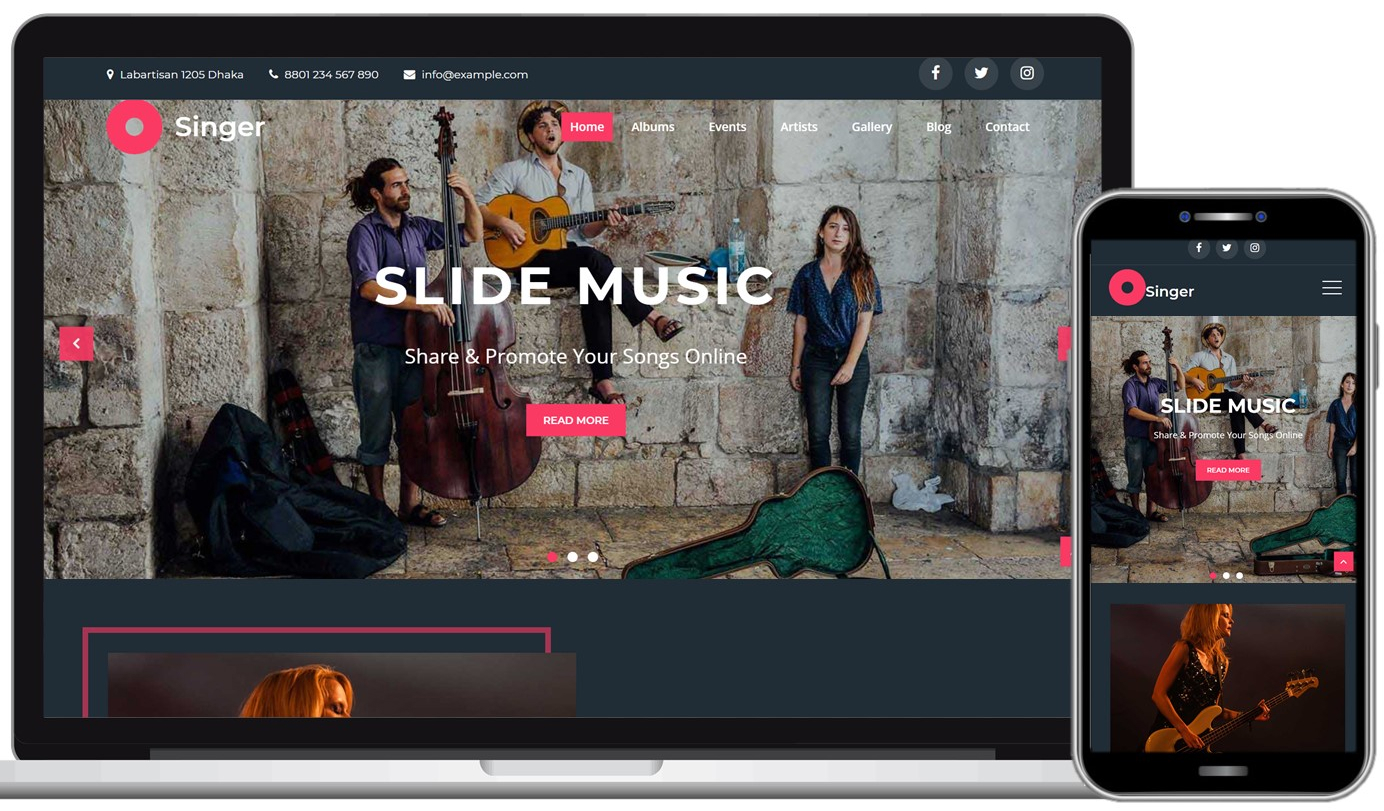 Creativ Singer Free WordPress Theme