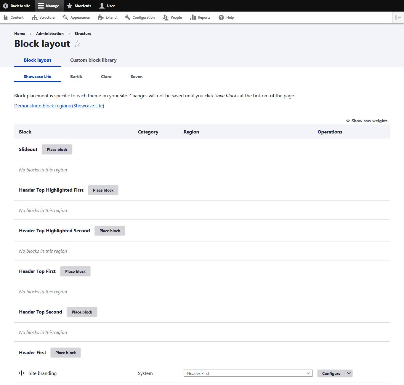 drupal block menu