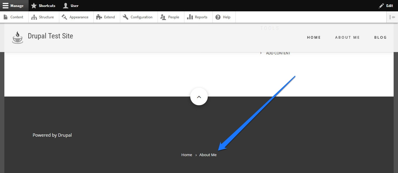 drupal block on page