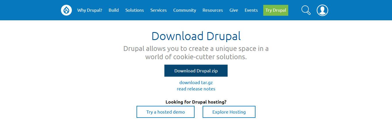 drupal tutorial download drupal