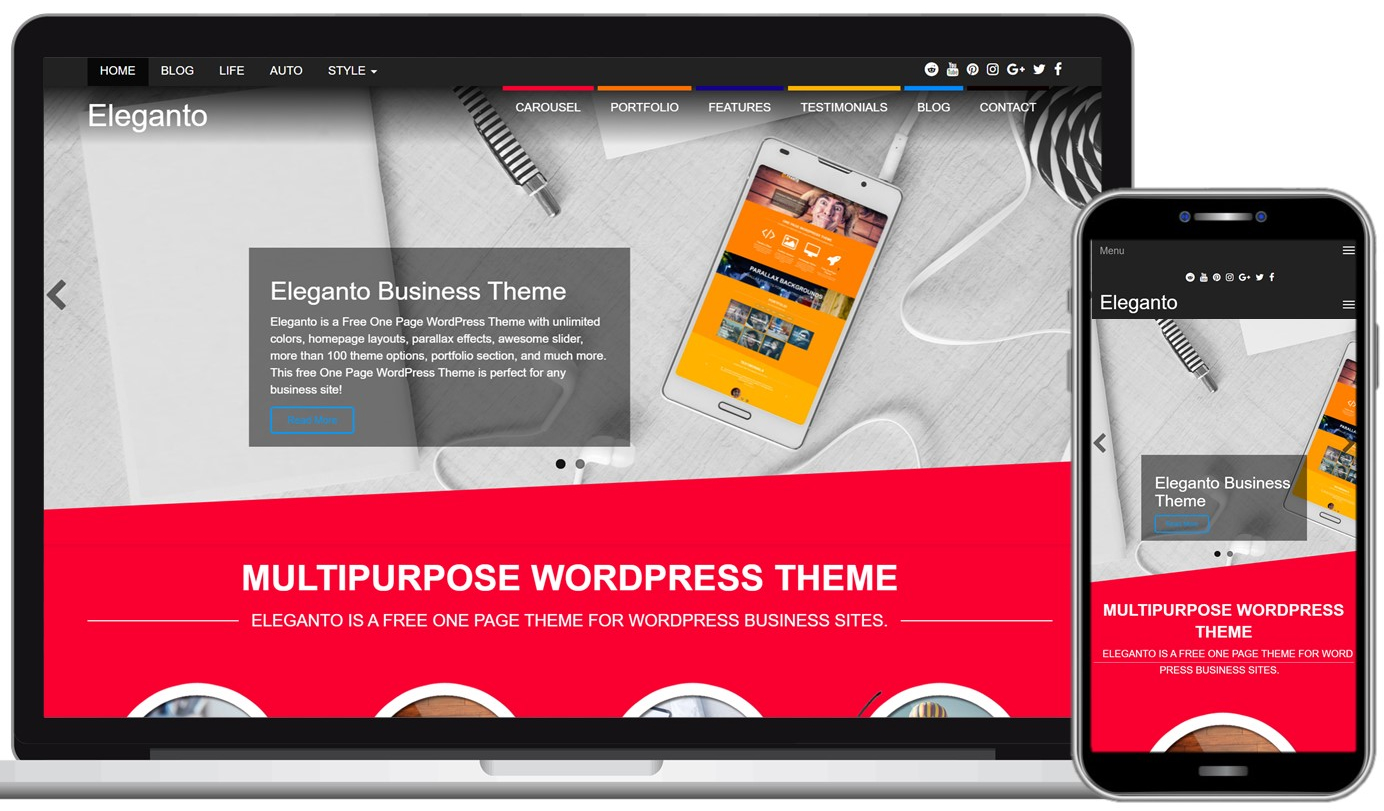Eleganto Free WordPress Theme