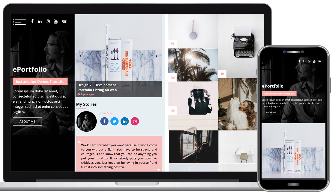 ePortfolio Free WordPress Theme