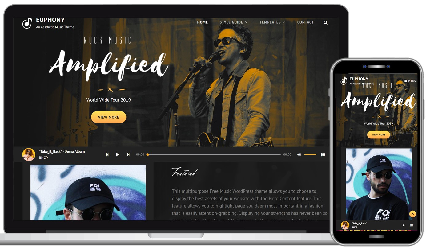 Euphony Free WordPress Theme