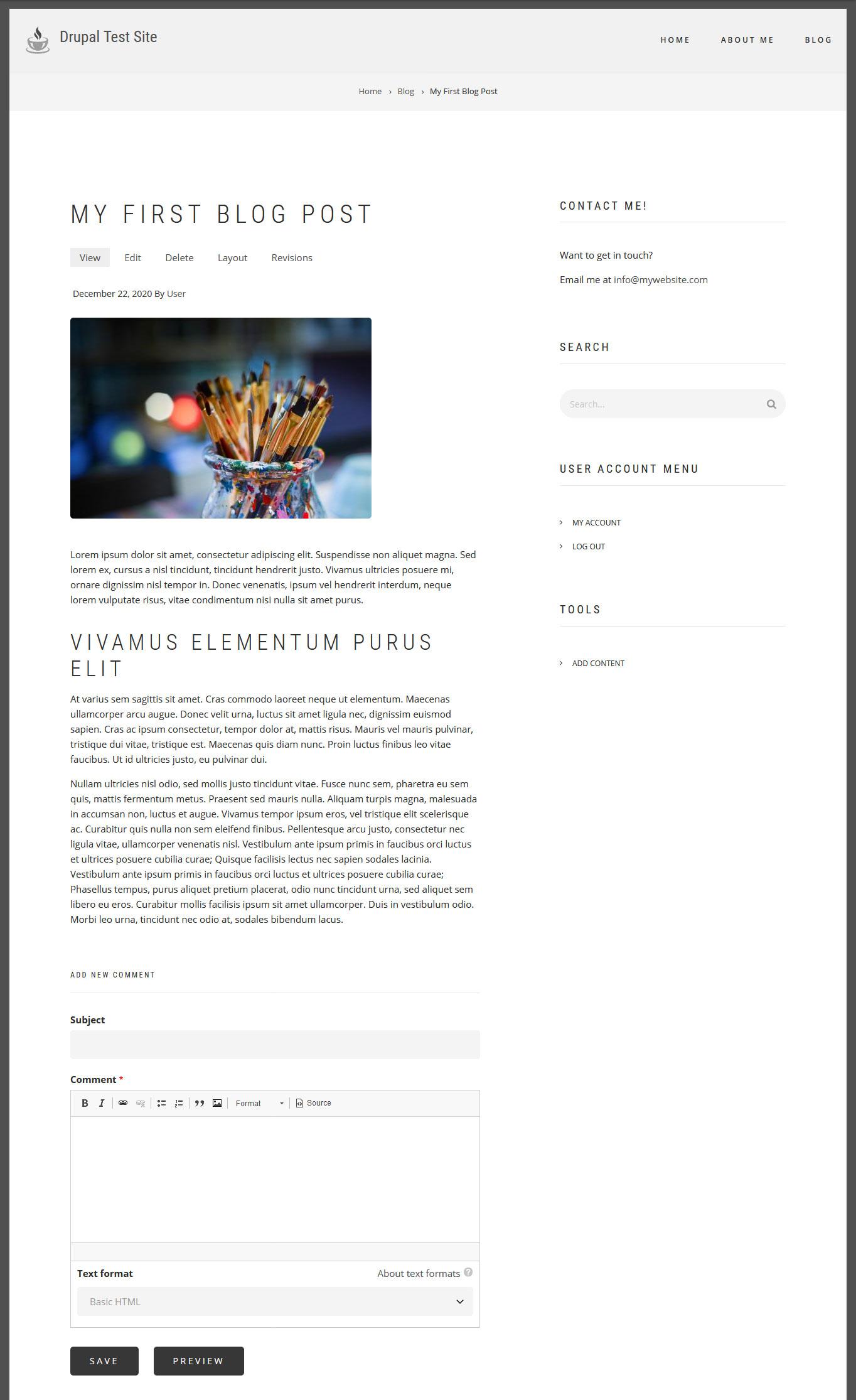 finished blog post