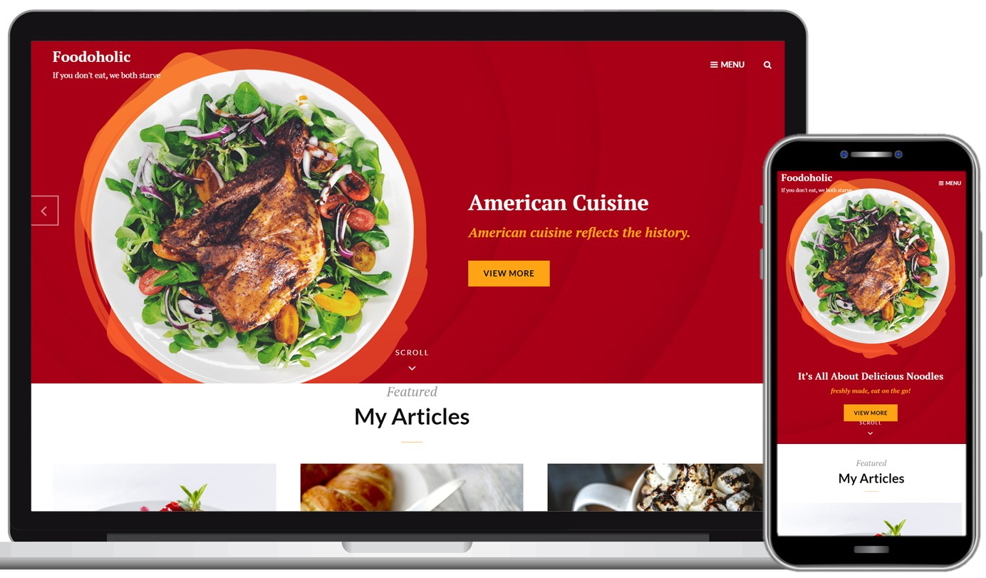 Foodoholic Free WordPress Theme