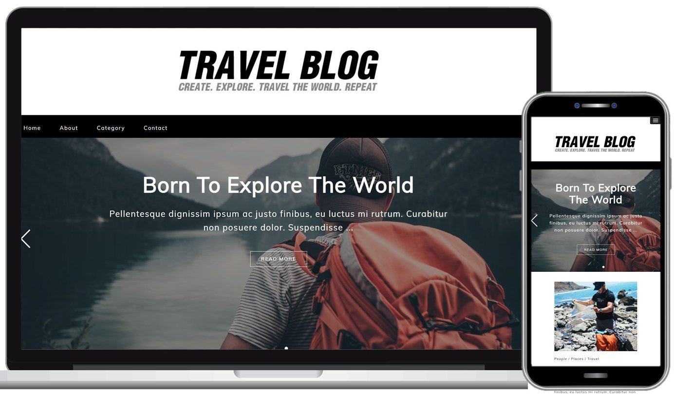 Free Travel Blog WordPress Theme