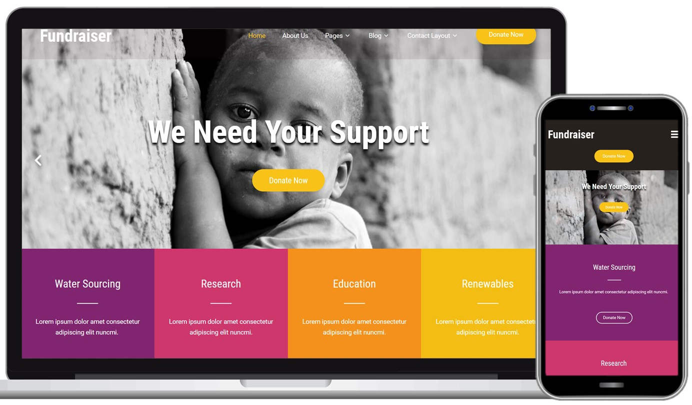 Fundraiser Lite Free WordPress Theme