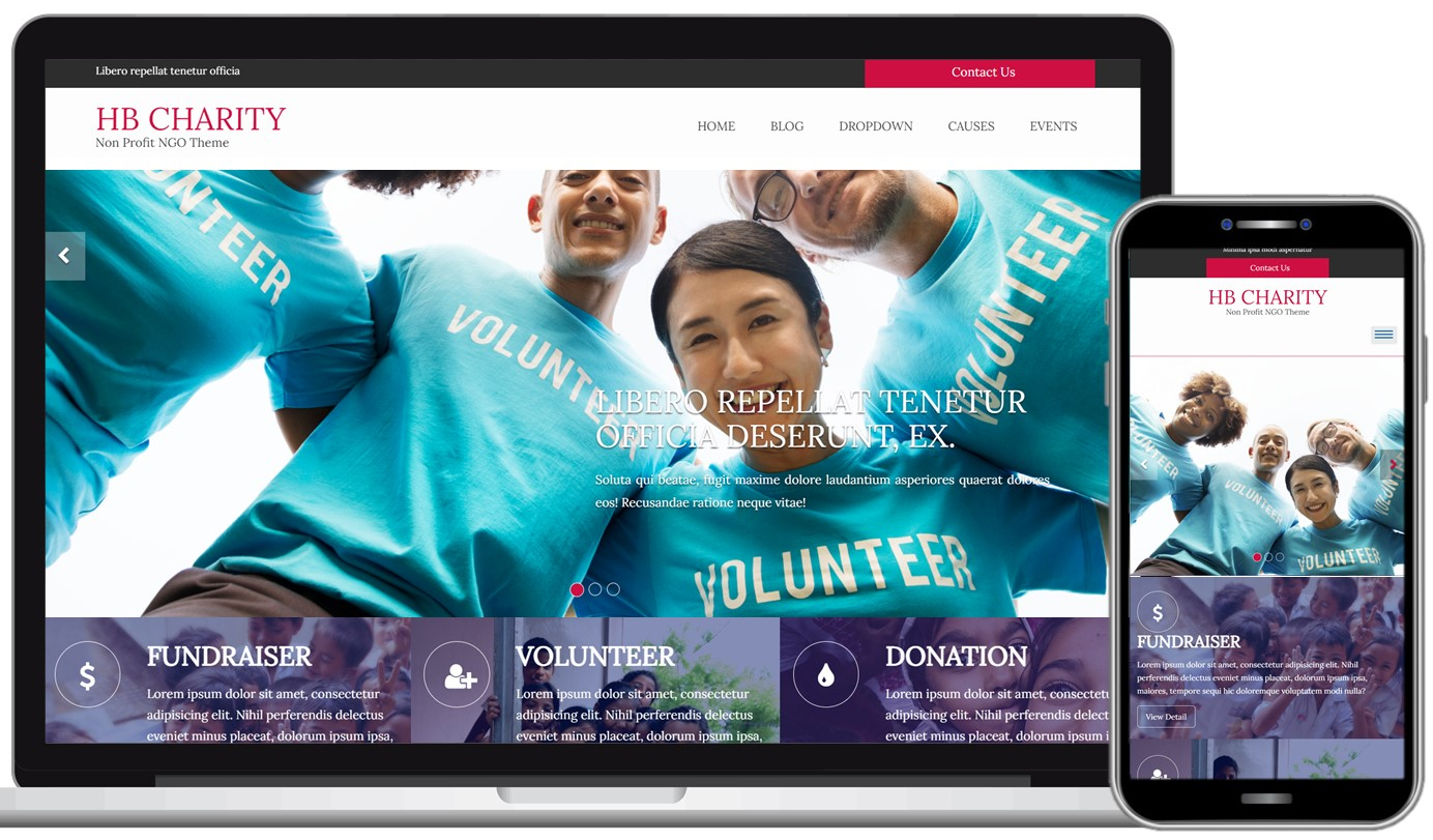 HB Charity Free WordPress Theme