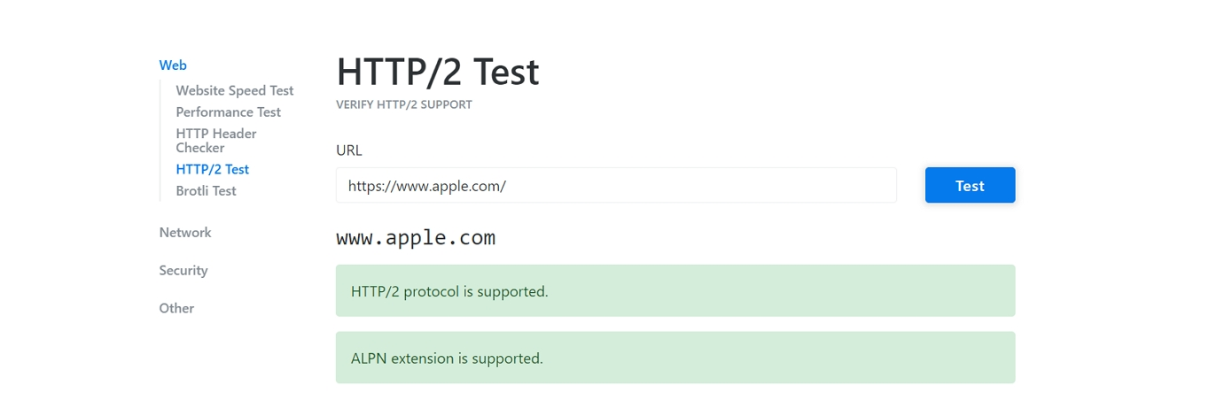 http2 test results