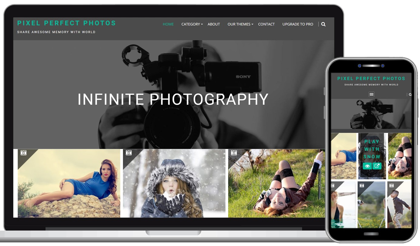 Infinite Photography Free WordPress Theme