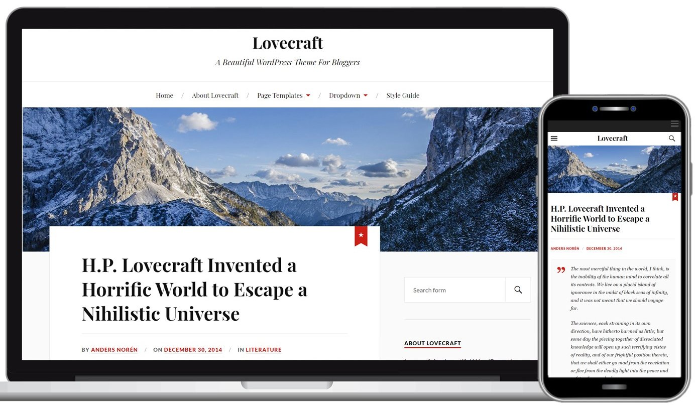 Lovecraft Free WordPress Theme