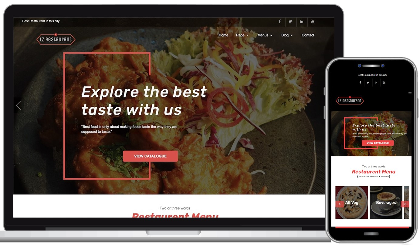 LZ Restaurant Free WordPress Theme
