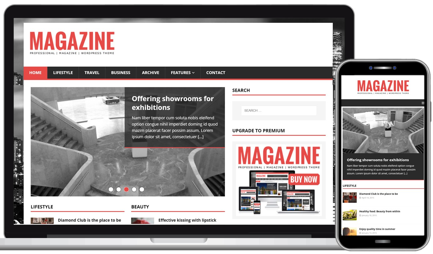MH Magazine Free WordPress Theme