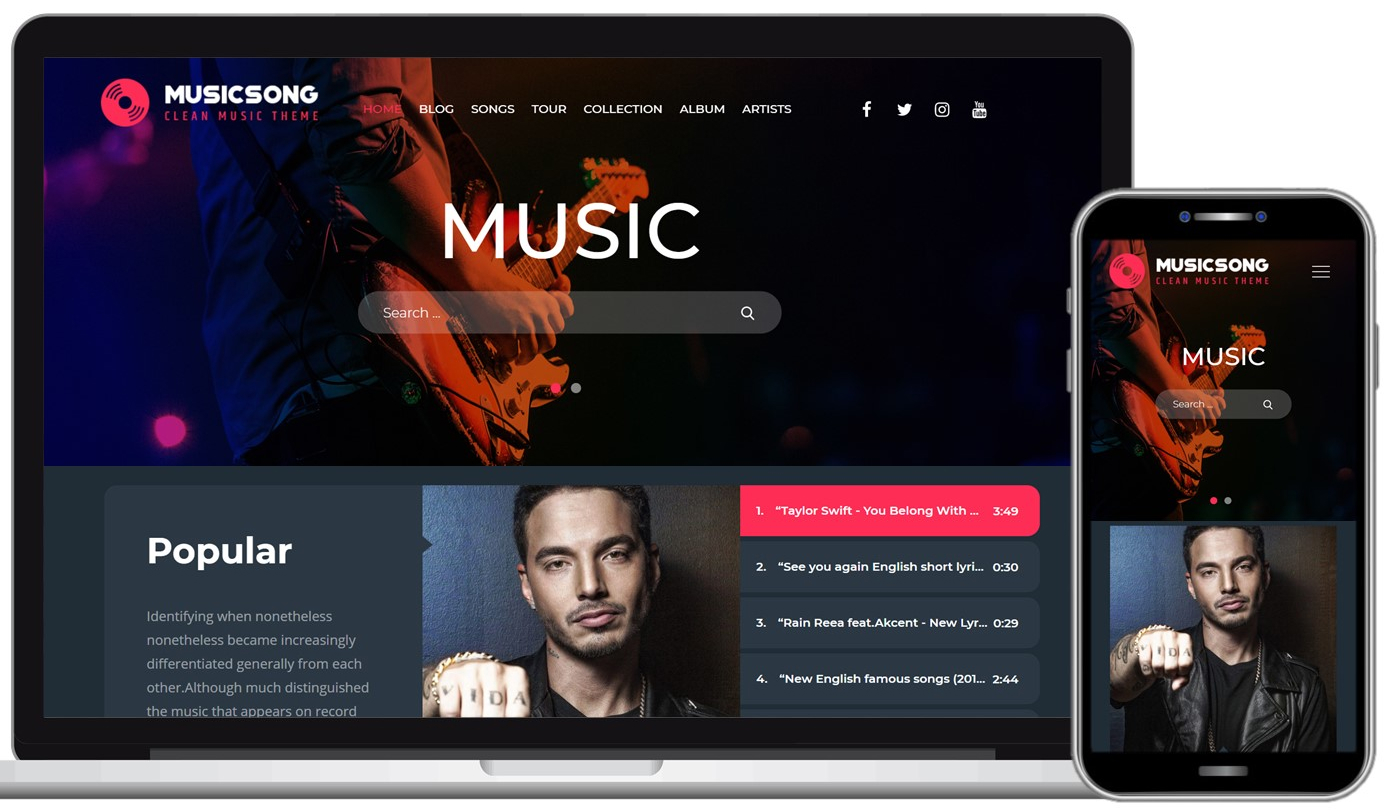 Musicsong Free WordPress Theme