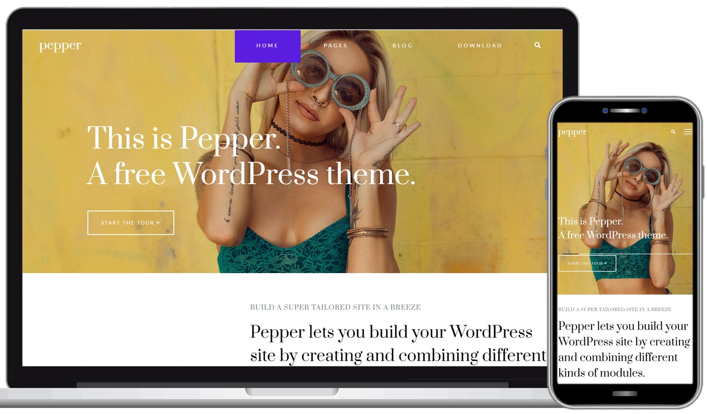 Pepper Free WordPress Theme