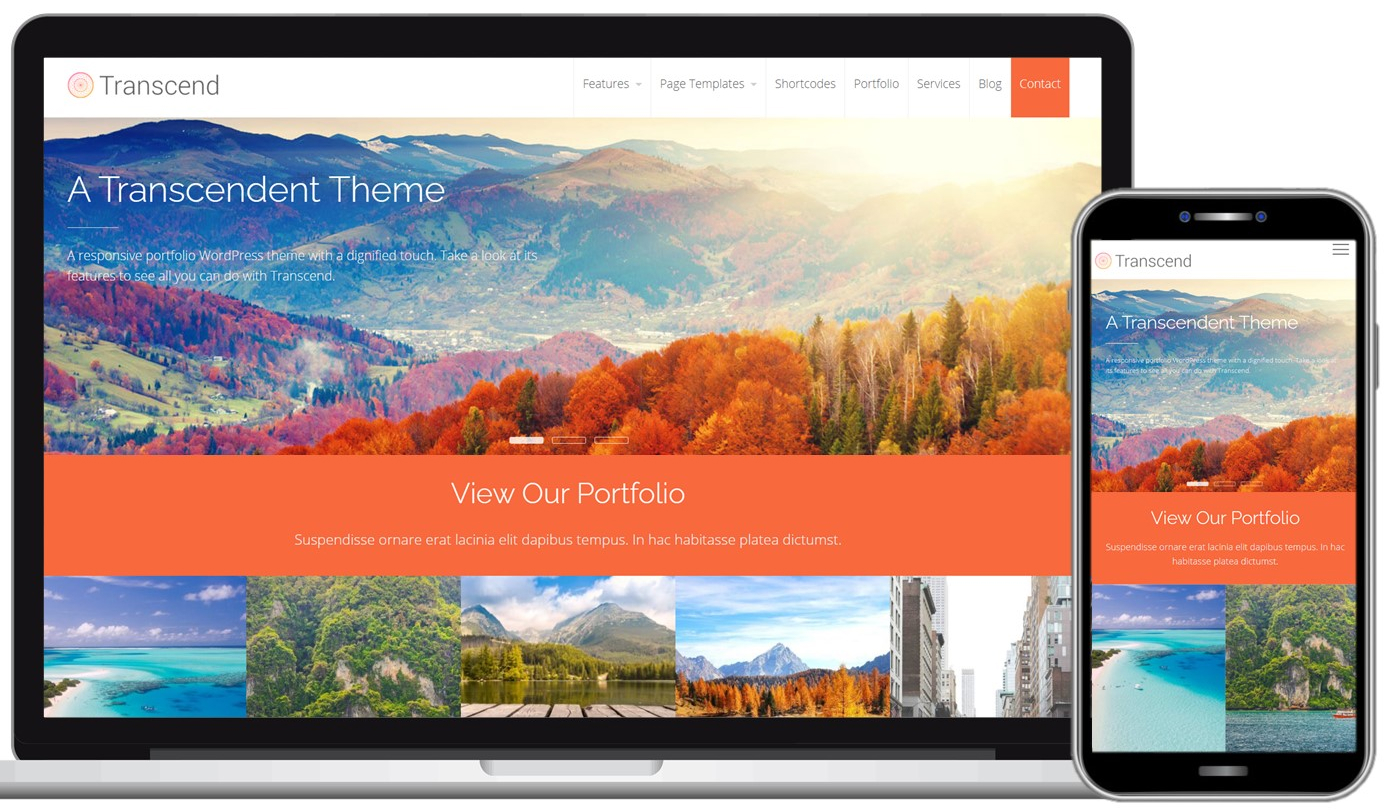 Transcend Free WordPress Theme