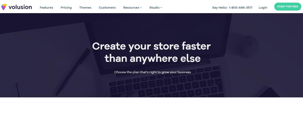 volusion homepage