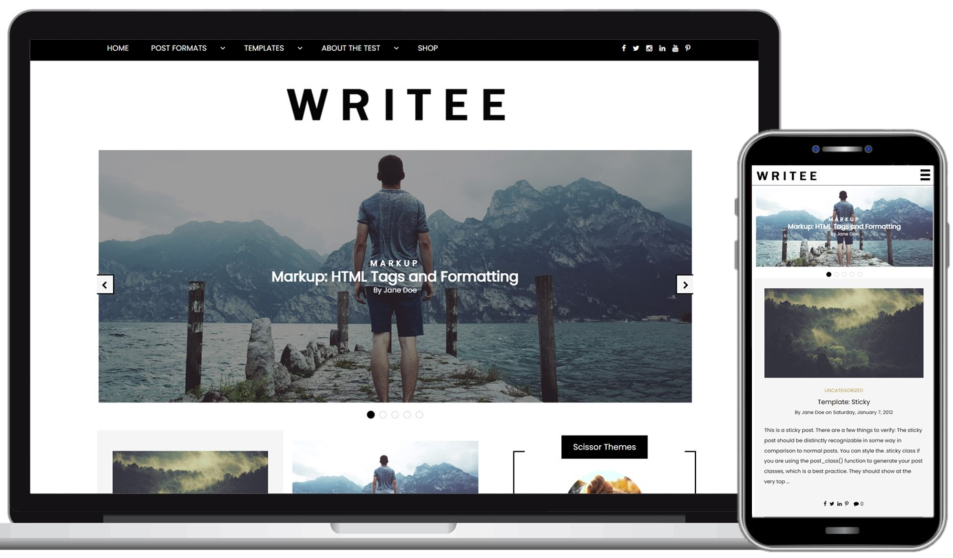 Writee Free WordPress Theme