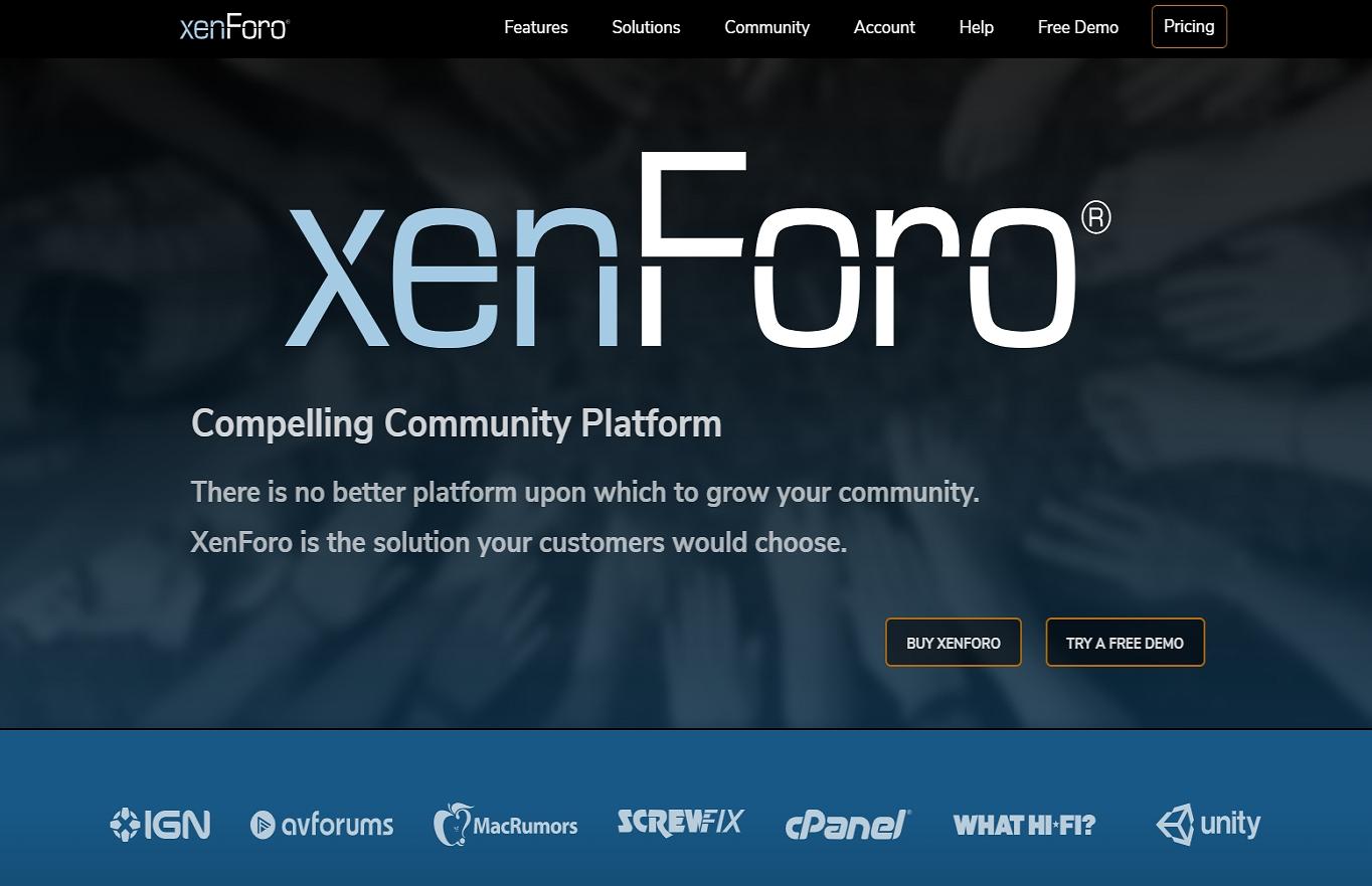 The xenForo website.