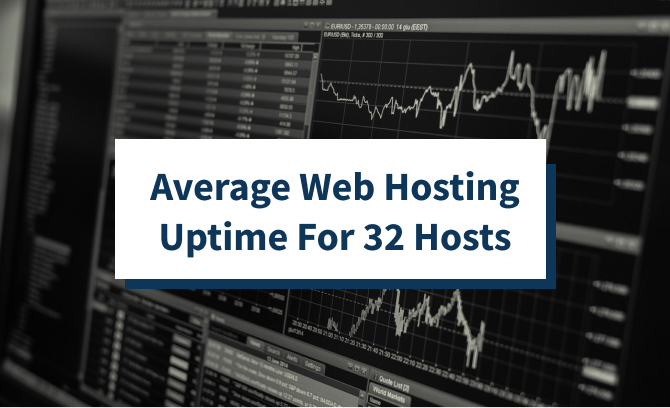 Average Web Hosting Uptime For 32 Hosts