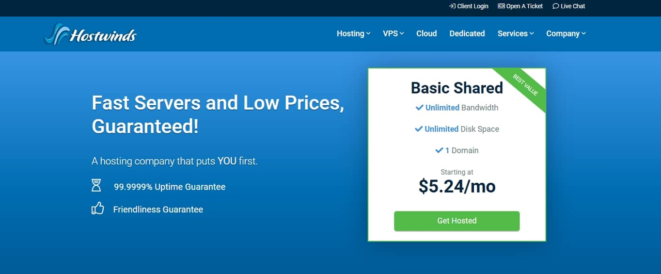 hostwinds hosting review
